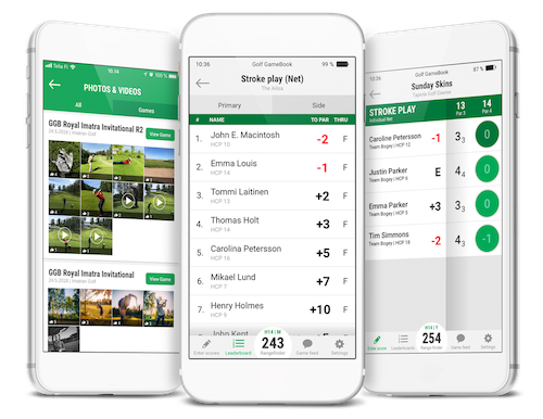 Golf Gamebook App